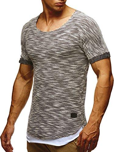 LEIF NELSON Herren T-Shirt Sweatshirt Hoodie Hoody LN6360 Schwarz