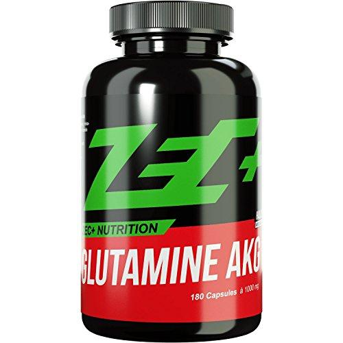 ZEC+ GLUTAMIN AKG | optimale Regeneration | ideal bioverfügbares Glutamin | AKG | Alpha Ketoglutarat für bessere Aufnahme | 180g