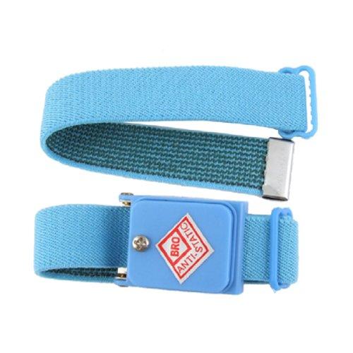 Sans fil anti-statique dragonne élastique bracelet bleu ciel 2en 1Set