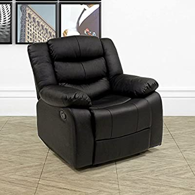 Lazy Boy Leather Style Recliner Chair from Beauty4Less