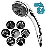 Duschkopf, Hohe Druck Wasserspar Handbrause Dusche Regendusche Mit 7 Spray Einstellung Handbrause Universal Dusch Kopf Chrom