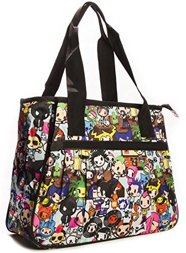 Big Handbag Shop ,  Unisex-Erwachsene Tasche Tote 865 - Rock Party Blue