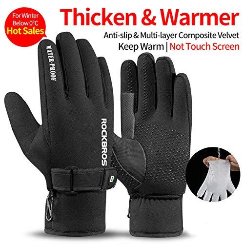 IAMZHL Winddicht Radfahren Handschuhe Touchscreen Reiten MTB Fahrrad Handschuhe Thermische Warme Motorrad Winter Herbst Fahrradhandschuhe-a28-XXL