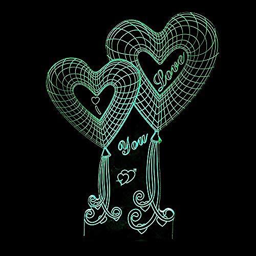 Spezial- & Stimmungsbeleuchtung Schreibtischlampen Für Kinder 3D Personality Usb Energiesparlampe Love 3D Touch Buntes Nachtlicht -