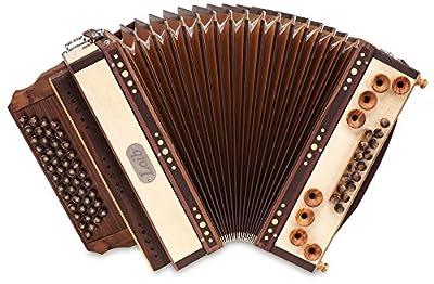 Loib Harmonika IVD Ahorn hell B-Es-As-Des (46 Diskant, 9 Helikon Bässe, Leder, Holz) natur