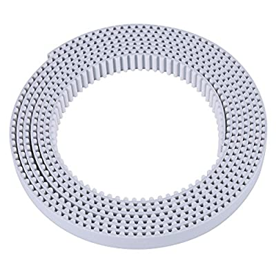 1/3/10 Meter HTD Open Timing Belt White Polyurethane Belt for 3D Printer CNC Engraving Mechines 15/30mm Width (3M 15mm)