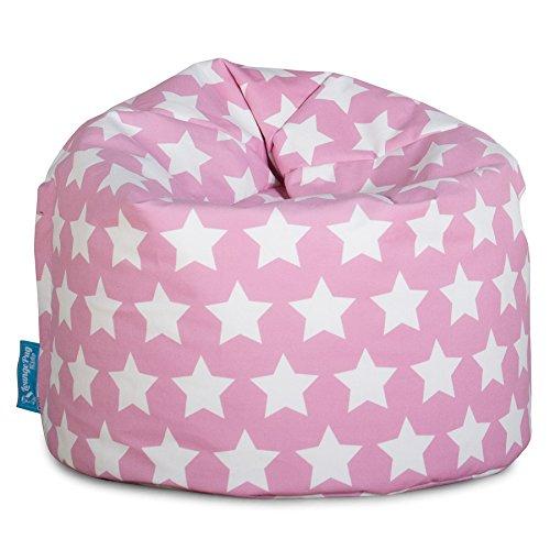 Lounge Pug®, Puff Infantil, Estampado para Niños - Estrellas Rosa