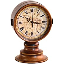 Reloj de decoración Europea vintage oro/bronce/hierro de doble cara reloj reloj