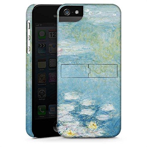 Apple iPhone X Silikon Hülle Case Schutzhülle Seerosen Claude Monet Gemälde Premium Case StandUp