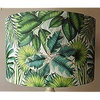 Green Palm Leaves Lampshade, vintage, shabby chic, jungle, mandala
