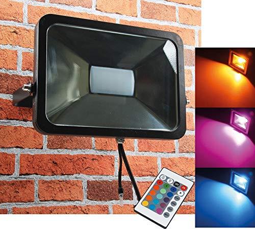 LED-Fluter SlimLine ''CTF-SL50W RGB'' IP44, 230V, RGB mit Fernbedienung -