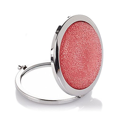 Signature Club A Pink Sparkle Magnifying Mirror Compact by Signature Club A by Adrienne Arpel Adrienne Arpel