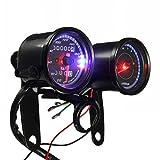 2écran LED Rétroéclairé Odomètre Compteur Compte-tours pour moto avec support par ungfu Cool