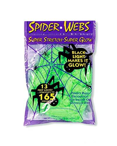 (Horror-Shop Halloween Spinnweben Schwarzlicht-Aktiv)