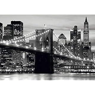 AG Design FTS 0199  Brooklyn Bridge New York, Papier Fototapete - 360x254 cm - 4 teile, Papier, multicolor, 0,1 x 360 x 254 cm
