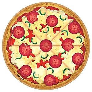 Amscan International 542017 - Vajilla de papel y plástico, 18 cm, placa redonda para pizza