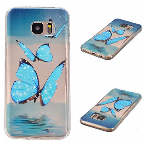 Cover per iPhone 6/iPhone 6S, con protezione per lo schermo in vetro temperato], boxtii® Ultra sottile sottile morbida TPU antigraffio trasparente protettiva Cover per Apple Iphone 6/iPhone 6S, Cartoo #5 Butterfly