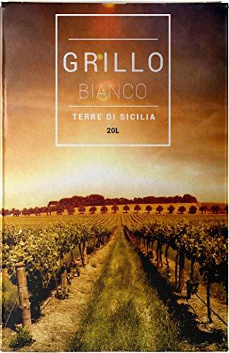 Grillo igt sicilia vendemmia 2018 bag in box vino bianco 20 lt