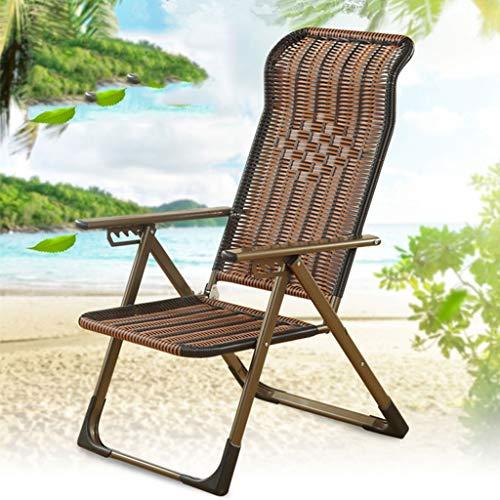 Sonnenliege Haushalt Balkon Stuhl Büro Mittagspause Liege Klappstühle Alter Mann Stuhl Korbstuhl Computer Stuhl (Color : B) -