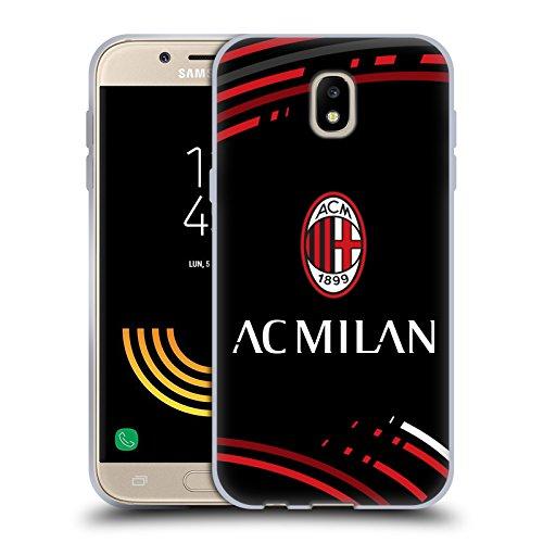 Head Case Designs Ufficiale AC Milan Curvato 2018/19 Modelli Cresta Cover in Morbido Gel Compatibile con Samsung Galaxy J5 (2017)