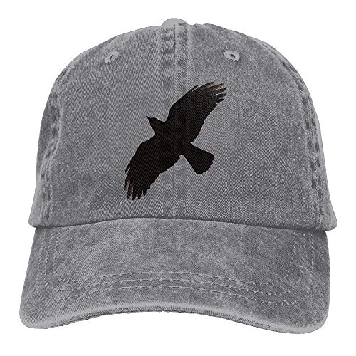 Raven in Flight Trend Printing Cowboy Hat Fashion Baseball Cap for Men and Women Black