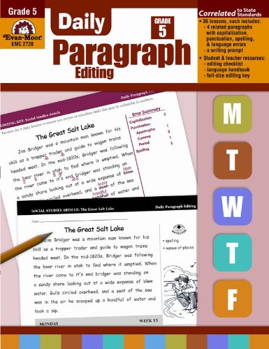 P D F] Daily Paragraph Editing Grade 5 *Full Pages* By Evan