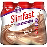 SlimFast Cafe Latte Meal Replacement Shake, 325ml - Pack of 6