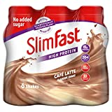 SlimFast Multipack Bottle Cafe Latte Shake, 6 x 325 ml