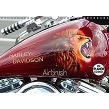 Harley Davidson - Airbrush (Wandkalender 2017 DIN A4 quer): Amerikas Motorradlegende Nr.1 (Geburtstagskalender, 14 Seiten ) (CALVENDO Kunst)