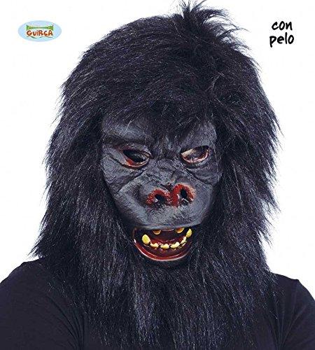 Guirca Maschera gorilla scimmia halloween carnevale adulto 2826