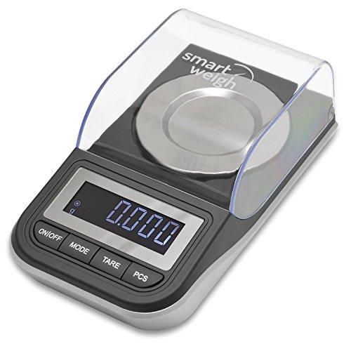 SMART WEIGH - BASCULA DE PRECISION DIGITAL POLVO EN MILIGRAMOS  PARA OBJETOS FINOS Y JOYAS  RECARGABLE  50X 0 01G
