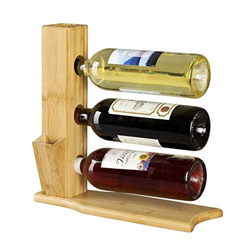 SoBuy Weinregal,Wandregal,Flaschenhalter, Weinflaschenständer,Weinflaschenhalter für 3...