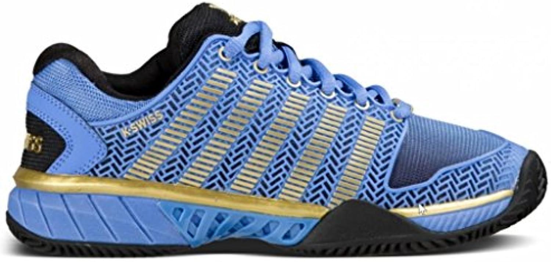 K-Swiss – Hyper Court Express Scarpa Tennis Donna, Donna, blu   nero   oro, 7 UK - 41 EU | Prima classe nella sua classe  | Maschio/Ragazze Scarpa