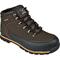 BARGAINS-GALORE Mens Safety Trainers Shoes Boots Work Steel Toe Cap Hiker Ankle Brown (11 UK)