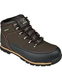MENS SAFETY TRAINERS SHOES BOOTS WORK STEEL TOE CAP HIKER ANKLE BROWN