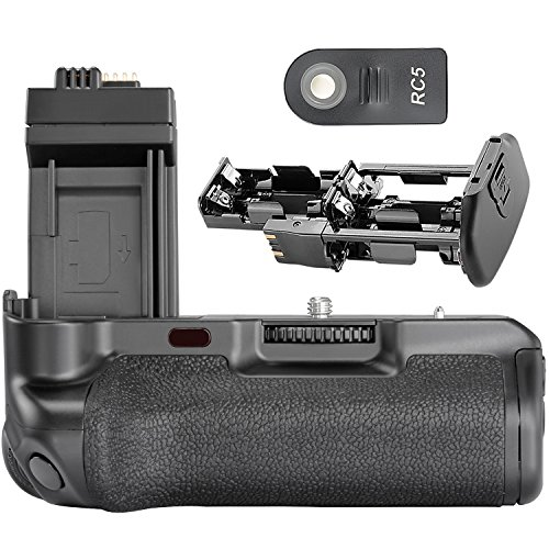 no Brand Empuñadura de Batería con Monitor LCD y IR Controlador Remoto para Canon 500D/450D/1000D/XS/T1i