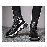 H.L Scarpe Uomo Inverno Alta Gang Scarpe Uomo Casual in Pelle Scarpe Giovani Velluto Sneakers Moda Anti-Scivolo Smorzamento Comfort,39