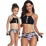 Bikinis Traje de baño Dos Piezas Madre e Hija Ropa Padre Hijo POLP Bikini Ropa de baño Mujer Camisolas Traje de baño una Pieza Niña Conjunto Mamá bebés Bañadores de Mujer Natacion S-XL