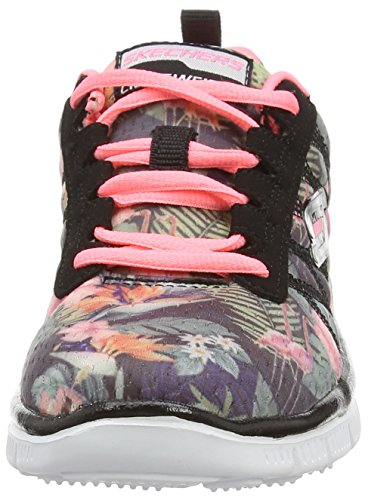 Skechers (SKEES) Skech Appeal - Floral Bloom, Scarpe Outdoor Multisport Bambine E Ragazze Nero (Bkmt)