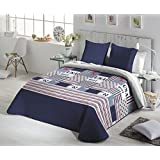 Fundeco - Colcha Bouti NORAY - cama de 90 cm. Color Unico