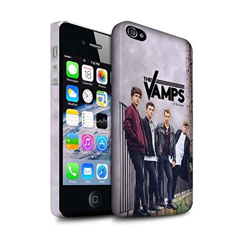 Offiziell The Vamps Hülle / Matte Snap-On Case für Apple iPhone 4/4S / Gebürstetes Muster / The Vamps Fotoshoot Kollektion Sammelalbum