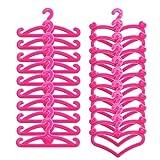 Generic 20 Stück Rosa Puppenkleidung Kleiderbügel Kunststoff Wenig Kleiderbügel Passen 11 inch...