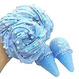 IGEMY Eiscreme mischende Wolken Schlamm Dekompressions Spielzeug Kind Druck entlasten Kristalllehm Spielzeug (Blau)