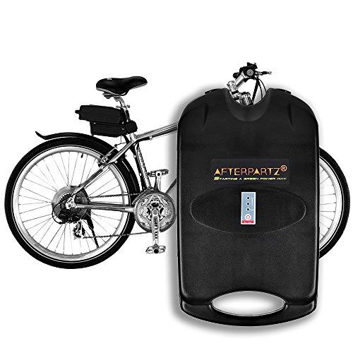 AFTERPARTZ Bike Battery Pack Unisex-Adult, Nero, 36V 10.4Ah