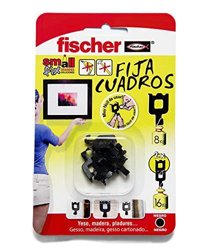 FISCHER Fijacuadros Negro Envase de 8 Ud.