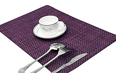TININNA Vintage Rectangle Woven Placemat Table Mat Dinner Mat Desk Mat Set of 4 - low-cost UK light shop.