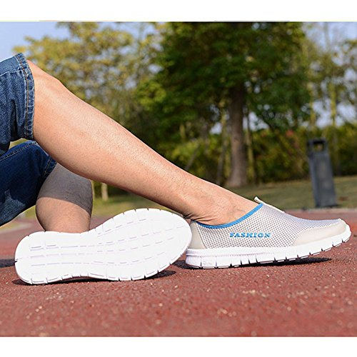 Scarpe sportive ad acqua - Juleya Unisex Scarpe Adulti per Beach Swim Surf Yoga Grigio chiaro