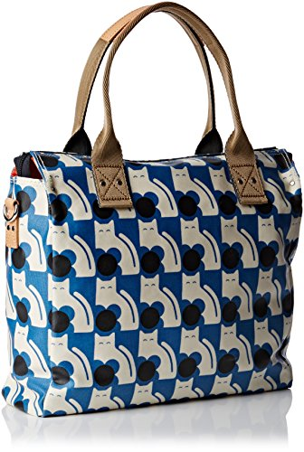 Orla Kiely Zip Messenger Tasche Blue (Powder Blue)