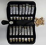 Katzen-Taschenapotheke,-PORTOFREI-,16 Mittel á 1,2g Globuli in UV-Schutzglas-Röhrchen im hochwertigen Leder Etui mit Strahlen-Abschirmung.