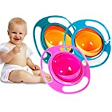 DEALBOX Spill Proof Gyroscopic Bowl 360 Degrees Rotation With Highly Durable Material For Baby Kids (Color May Vary)